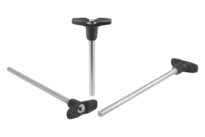 Ball lock pins with T-grip stainless steel, with head-end lock