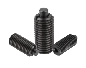 Spring plungers with hexagon socket and flattened thrust pin, steel