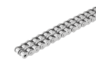 Roller chain duplex, stainless steel DIN ISO 606, curved link plate