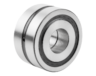 Axial angular contact ball bearing, steel double-row