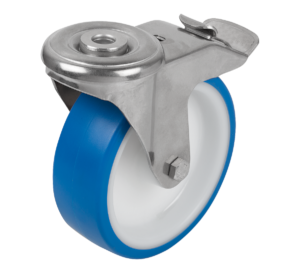 SWIVEL CASTOR WITH STOP-FIX LOCKING