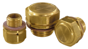Vent screws brass with check valve