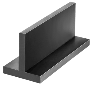 T-profiles machined all sides grey cast iron or aluminium