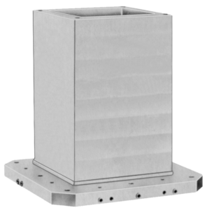 CUBE TOMBSTONE WITHOUT HOLE, H=55, GREY
