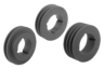 V-belt pulleys, grey cast iron for mounting with taper clamping bushes