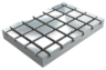 Baseplates, grey cast iron with T-slots
