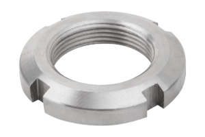 Slotted round nuts, steel or stainless steel, DIN 981
