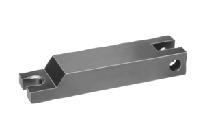 Clamp straps hinge heel with bolt slot