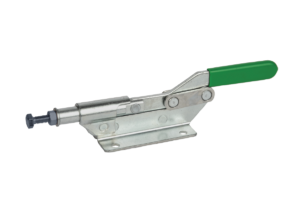 Toggle clamps horizontal with push rod