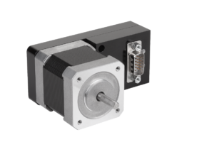 Stepper motor with integrated positioning control