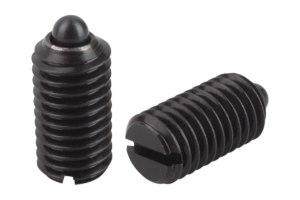 Spring plungers with slot and thrust pin, standard spring force