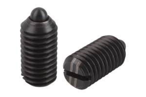 Spring plungers with slot and thrust pin, reinforced spring force