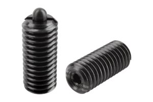 Spring plungers with hexagon socket and thrust pin, reinforced spring force