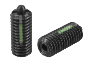 Spring plungers with hexagon socket and thrust pin, reinforced spring force, LONG-LOK secured