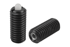 Spring plungers with hexagon socket and thrust pin, light spring force