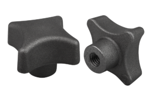 Palm grips DIN 6335, grey cast iron, Form C, blind hole