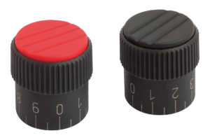 Knurled knobs Form C, with standard scale