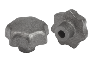 Star grips DIN 6336, grey cast iron, Form C, blind hole
