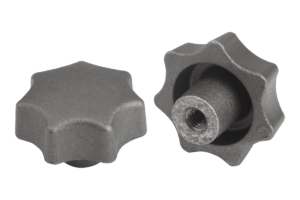 Star grips DIN 6336, grey cast iron, Form E, blind tapped hole