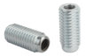 Lateral spring plungers with threaded sleeve, without thrust pin, Form A, without seal