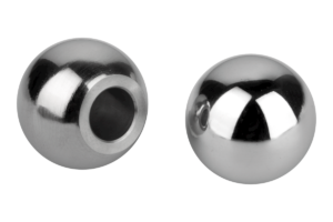 Ball knobs stainless steel or aluminium DIN 319 Form K with hole