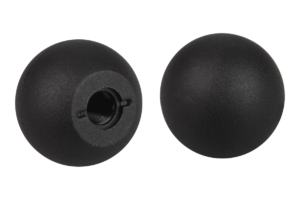 Ball knobs thermoplastic DIN 319 enhanced, Form C, with plastic thread