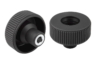 Knurled knobs Form E, with reamed bush, without cap