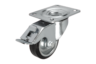 Swivel castors with stop fix