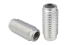 Lateral spring plungers with threaded sleeve, without thrust pin, Form B, with seal