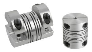 Beam couplings with removable clamping hub, aluminium