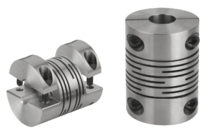 Beam couplings with removable clamping hub, stainless steel