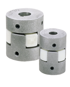 Elastomer dog couplings clamping with grub screw