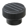 Knurled knobs with internal thread