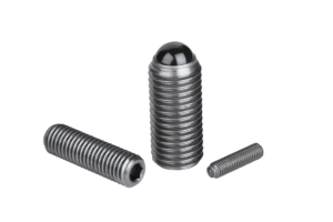 Spring plungers with hexagon socket and ceramic ball, stainless steel