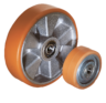 Wheels aluminium rims with injection-moulded tread