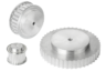 Toothed belt pulleys, AT 10 profile