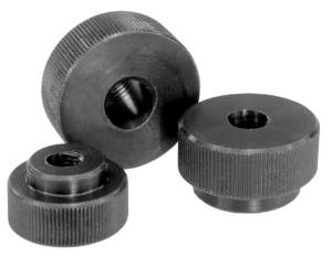 Knurled nuts quick-acting
