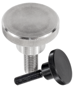 Knurled screws high form steel and stainless steel, DIN 464