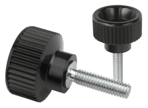 Knurled thumb screws plastic