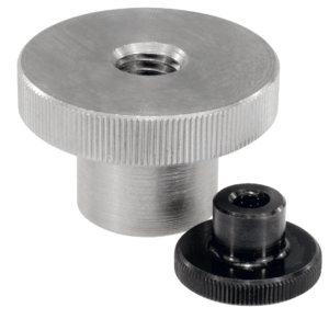 Knurled nuts high steel and stainless steel, DIN 466