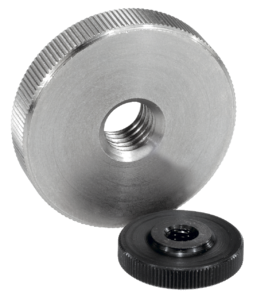Knurled nuts flat steel and stainless steel, DIN 467
