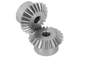 Bevel gears in steel, ratio 1:1 toothing milled, straight teeth, engagement angle 20°