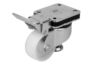Elevating castors with integrated machine foot