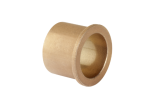 Plain bearing sintered bronze with collar