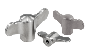 Wing grips internal thread, stainless steel