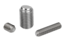 Ball-end thrust screws without head stainless steel with flattened ball and rotation lock