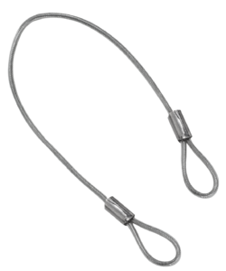 Retaining cables Form C, with eyes both ends