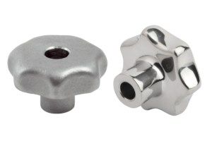 Star grips similar to DIN 6336, stainless steel, Form B, drilled through