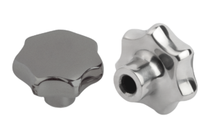 Star grips similar to DIN 6336, stainless steel, Form C, blind hole