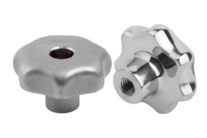 Star grips similar to DIN 6336, stainless steel, Form D, thread countersunk